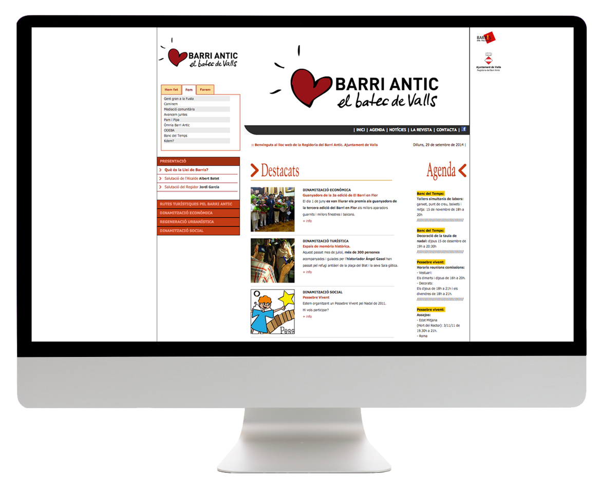 Valls Barri Antic Web.